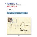 "Jean-Paul Bach - 9. Fernauktion Sammlung ""KYBURG"" - 2. Teil"