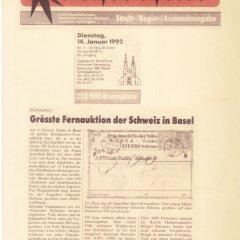 Baslerstab vom 14.01.1992