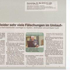 Basler Zeitung vom 20.05.2010