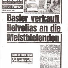 Blick Zeitung vom 31.03.1989