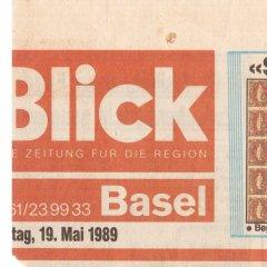 Blick Zeitung vom 19.05.1989